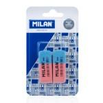 MILAN γόμα 620 BCM10100MP για μολύβι και στυλό, 53 x 20 x 8mm, σετ 2τμχ