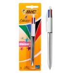 BIC στυλό διαρκείας 4 Colours με μύτη 1mm, ασημί