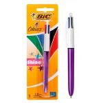 BIC στυλό διαρκείας 4 Colours με μύτη 1mm, μωβ