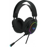 AULA gaming headset Wind F606, RGB, USB/3.5mm, 50mm, μαύρο