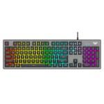 AULA Gaming πληκτρολόγιο S2056, RGB, μαύρο-γκρι