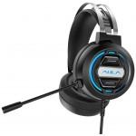 AULA gaming headset S603USB, RGB, USB/3.5mm, 50mm, μαύρο
