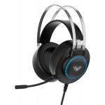 AULA gaming headset S601USB, RGB, USB, 50mm, μαύρο