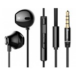 BASEUS earphones με μικρόφωνο Encok H06, 3.5mm, 1.2m, μαύρα