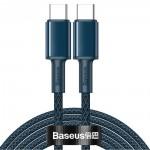 BASEUS καλώδιο USB Type-C CATGD-A03, 5A 100W, 2m, μπλε