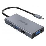 ORICO docking station MC-U501P, USB Type-C, 5-ports, γκρι