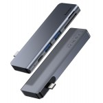BASEUS USB Type-C hub CAHUB-K0G, 2x USB 3.0, Type-C, SD/Micro SD, γκρι