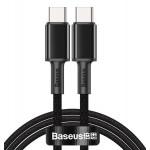 BASEUS καλώδιο USB Type-C CATGD-01, 5A 100W, 1m, μαύρο