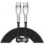 BASEUS καλώδιο USB Type-C CATJK-D01, 5A 100W, 2m, μπεζ