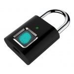 Λουκέτο ασφαλείας με fingerprint CTL-0021, 50mm, μεταλλικό, μαύρο