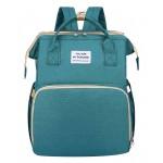 2 in 1 τσάντα πλάτης και παιδικό κρεβατάκι TMV-0050, αδιάβροχη, πράσινη