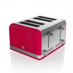 Swan Retro 4 Slice Red Toaster - Κόκκινο
