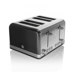 Swan Retro 4 Slice Toaster - Μαύρο
