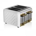 Swan 4 Slice Metal Toaster - Άσπρο