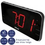 Akai ACR-3899 Ψηφιακό ξυπνητήρι με Aux-In, ραδιόφωνο, USB για φόρτιση κινητού και διπλή αφύπνιση