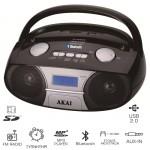 Akai APRC-106 Φορητό HiFi με Bluetooth, ξυπνητήρι, USB για φόρτιση συσκευών, κάρτα SD και Aux-In