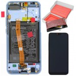 HONOR 10 ΟΘΟΝΗ + TOUCH SCREEN + LENS + FRAME + BATTERY 02351XAE GREY ORIGINAL SERVICE PACK
