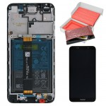 HONOR 7S/Y5 2018/Y5 PRIME 2018 ΟΘΟΝΗ + TOUCH SCREEN + LENS + FRAME + BATTERY 02351XHS BLACK ORIGINAL SERVICE PACK