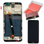 HUAWEI MATE 10 LITE ΟΘΟΝΗ + TOUCH SCREEN + LENS + FRAME + BATTERY 02351QCY BLACK ORIGINAL SERVICE PACK