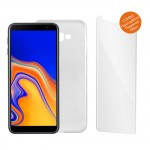 "IDOL 1991 COMBO SAMSUNG J4 PLUS J415 6.0"" TEMPERED 0.30mm  + ΘΗΚΗ  AIR SLIM WHITE"