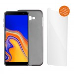 "IDOL 1991 COMBO SAMSUNG J4 PLUS J415 6.0"" TEMPERED 0.30mm  + ΘΗΚΗ  AIR SLIM GREY"