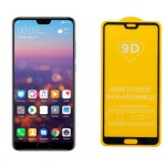 "IDOL 1991 TEMPERED GLASS HUAWEI P20 PRO 6.1"" 9H 0.25mm 9D FULL GLUE SPECIAL FULL COVER BLACK"