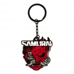 Jinx Cyberpunk 2077 Samurai Logo Metal Keychain