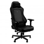 noblechairs HERO Gaming Chair - cold foam, steel armrests,  60mm casters, 150kg - black/black