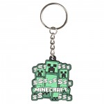 Jinx Minecraft Creeper Rush Rubber Keychain