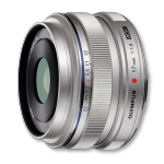 Olympus 17mm 1:1.8 SILVER M.ZUIKO DIGITAL (EW-M1718) Lense Micro FT