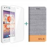 MLS Color Mini 4G Flip Θήκη Ασημί & Tempered Glass