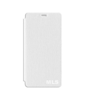MLS Diamond 4G Δερμάτινη Flip Θήκη Λευκό