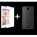 "MLS Top-S 4G 4.5"" TPU Θήκη Μαύρο & Tempered Glass"