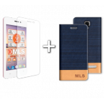 "MLS Top-S 4G 4.5"" Flip Θήκη Μπλε & Tempered Glass"