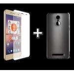 "MLS Color Fingerprint 4G 5.5"" TPU Θήκη Μαύρο & Protective Film"