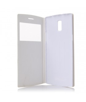 Doogee DG580 Flip Cover Leather Case White