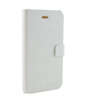 Vili Leather Style Flip Θήκη iPhone 4 & 4S Λευκό