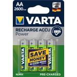 VARTA 05716 2600mAh συσκ.4 101404 Recharge Accu Power 4AA