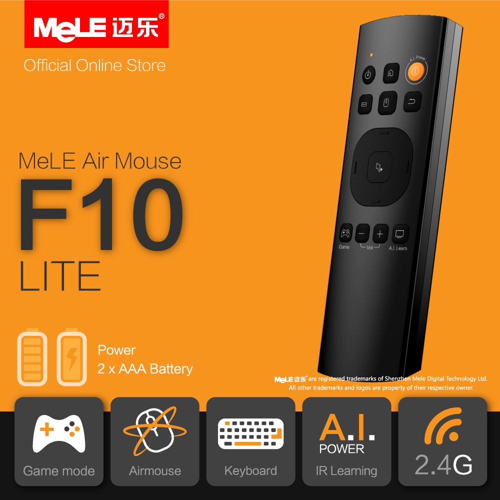 Minya.gr - Mele F10 Lite 2.4GHz Wireless Air Mouse