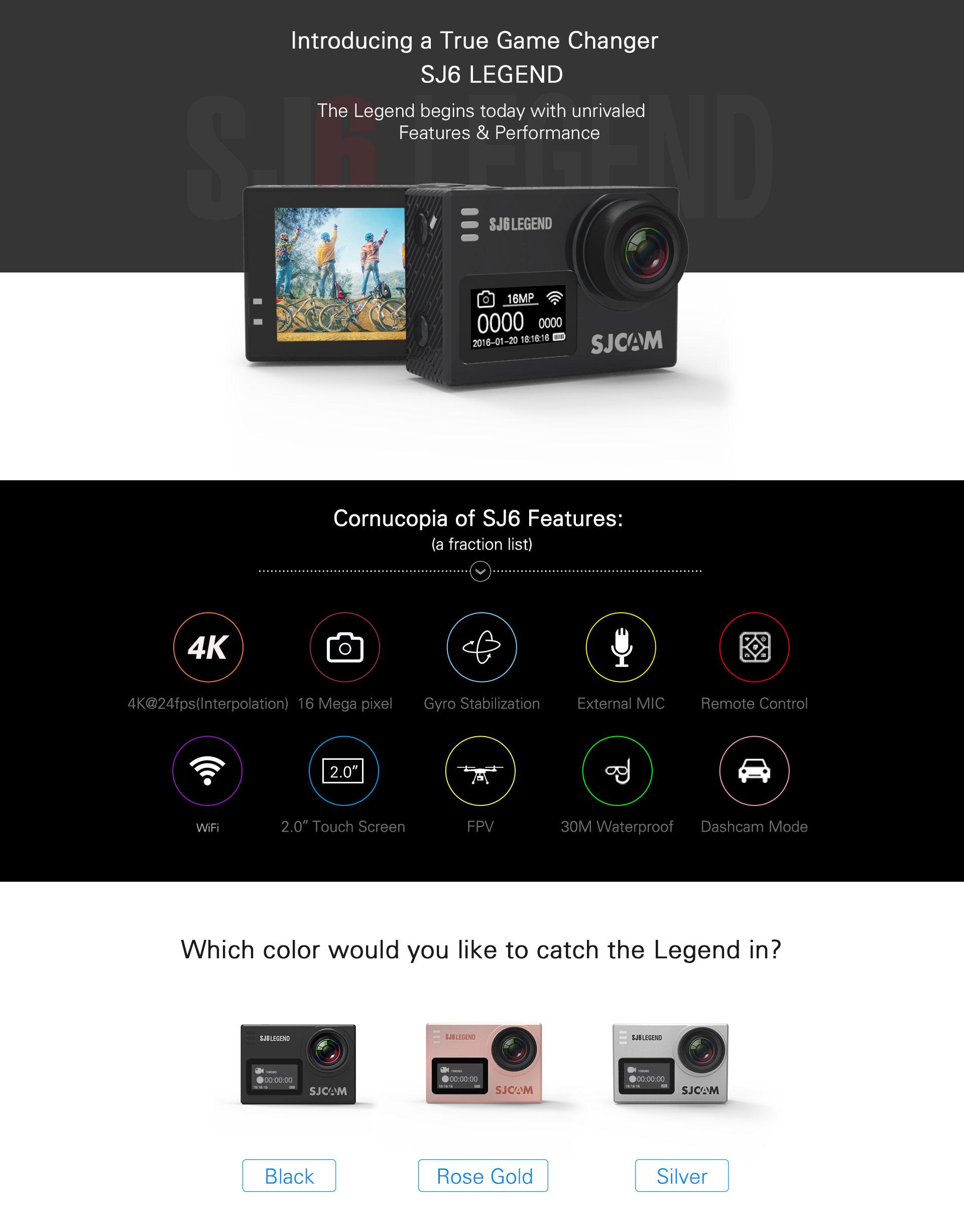Minya.gr - SJCAM SJ6 Legendi Action Sports 4K Camera WiFi