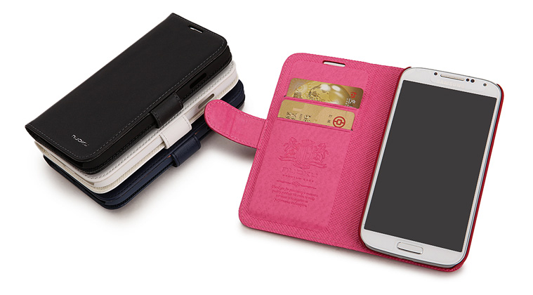 Minya.gr - Nuoku Vogue Flip Leather Case Galaxy S4 Pink