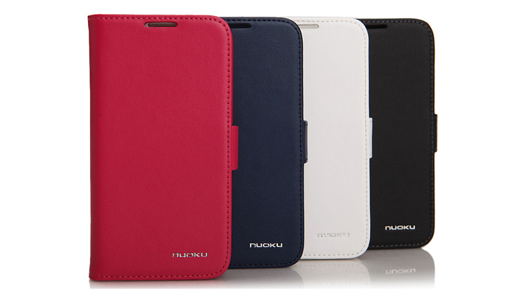 Minya.gr - Nuoku Vogue Flip Leather Case Galaxy S4 White