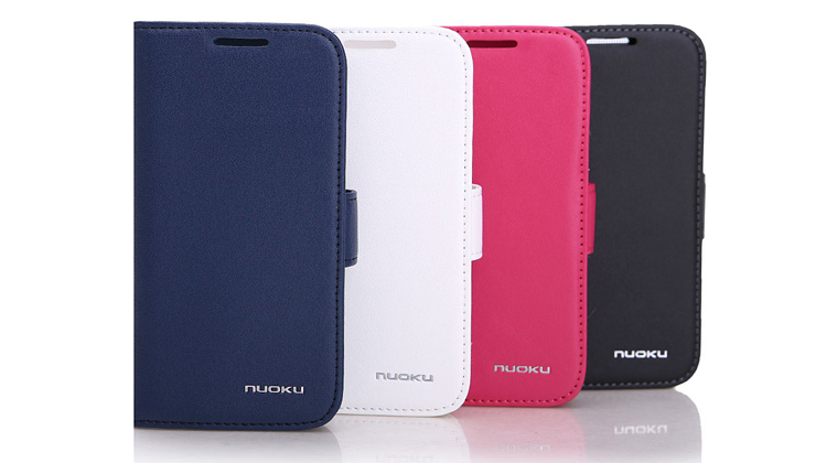 Minya.gr - Nuoku Vogue Flip Leather Case Galaxy S4 Mini Pink
