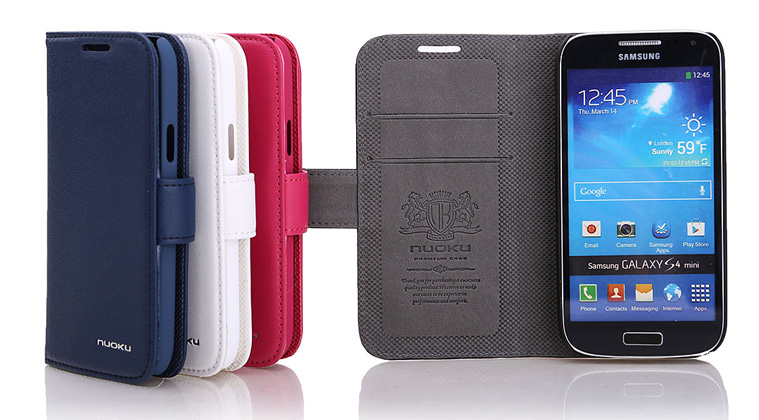 Minya.gr - Nuoku Vogue Flip Leather Case Galaxy S4 Mini White