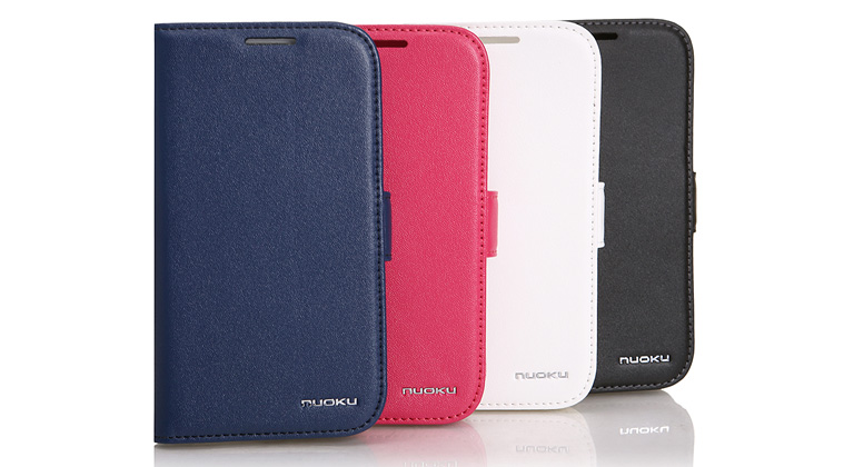 Minya.gr - Nuoku Vogue Flip Leather Case Galaxy S3 White